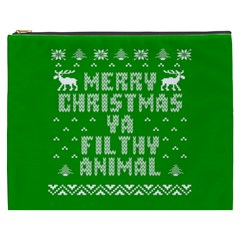 Ugly Christmas Sweater Cosmetic Bag (xxxl)  by Onesevenart