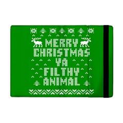 Ugly Christmas Sweater Apple Ipad Mini Flip Case by Onesevenart