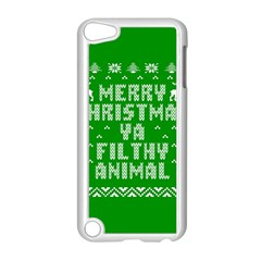 Ugly Christmas Sweater Apple Ipod Touch 5 Case (white) by Onesevenart