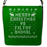 Ugly Christmas Sweater Flap Messenger Bag (S)