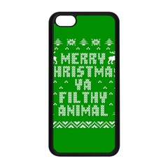 Ugly Christmas Sweater Apple Iphone 5c Seamless Case (black) by Onesevenart