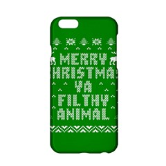 Ugly Christmas Sweater Apple Iphone 6/6s Hardshell Case by Onesevenart