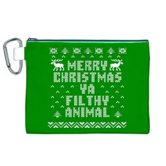 Ugly Christmas Sweater Canvas Cosmetic Bag (xl) by Onesevenart
