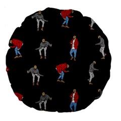 Drake Ugly Holiday Christmas Large 18  Premium Flano Round Cushions by Onesevenart