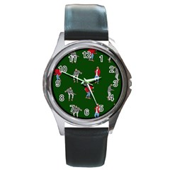 Drake Ugly Holiday Christmas Round Metal Watch by Onesevenart
