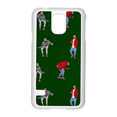 Drake Ugly Holiday Christmas Samsung Galaxy S5 Case (white) by Onesevenart