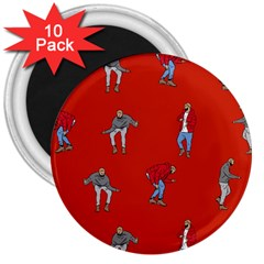 Drake Ugly Holiday Christmas 3  Magnets (10 Pack)  by Onesevenart