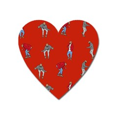 Drake Ugly Holiday Christmas Heart Magnet by Onesevenart