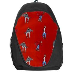 Drake Ugly Holiday Christmas Backpack Bag by Onesevenart