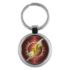 Flash Flashy Logo Key Chains (round)  by Onesevenart