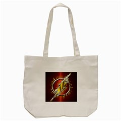 Flash Flashy Logo Tote Bag (cream) by Onesevenart