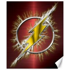 Flash Flashy Logo Canvas 8  X 10  by Onesevenart