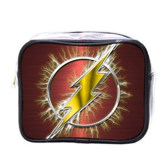 Flash Flashy Logo Mini Toiletries Bags by Onesevenart