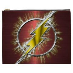 Flash Flashy Logo Cosmetic Bag (XXXL)  by Onesevenart