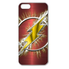 Flash Flashy Logo Apple Seamless Iphone 5 Case (clear) by Onesevenart