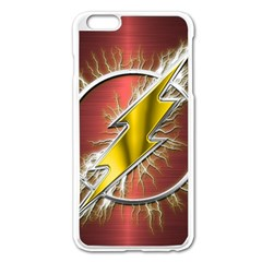 Flash Flashy Logo Apple Iphone 6 Plus/6s Plus Enamel White Case by Onesevenart
