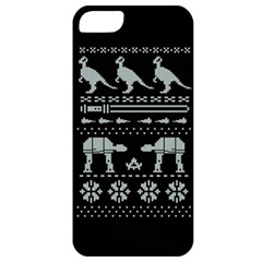 Holiday Party Attire Ugly Christmas Black Background Apple Iphone 5 Classic Hardshell Case by Onesevenart