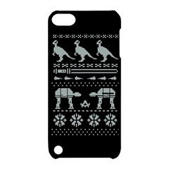 Holiday Party Attire Ugly Christmas Black Background Apple Ipod Touch 5 Hardshell Case With Stand by Onesevenart