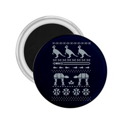 Holiday Party Attire Ugly Christmas Blue Background 2 25  Magnets by Onesevenart