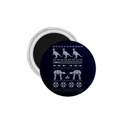 Holiday Party Attire Ugly Christmas Blue Background 1 75  Magnets by Onesevenart