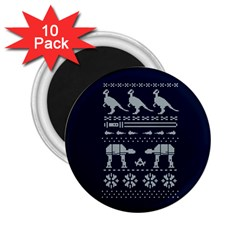 Holiday Party Attire Ugly Christmas Blue Background 2 25  Magnets (10 Pack)  by Onesevenart