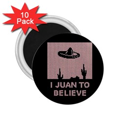 I Juan To Believe Ugly Holiday Christmas Black Background 2 25  Magnets (10 Pack)  by Onesevenart