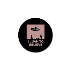 I Juan To Believe Ugly Holiday Christmas Black Background Golf Ball Marker by Onesevenart
