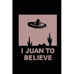 I Juan To Believe Ugly Holiday Christmas Black Background 5 5  X 8 5  Notebooks by Onesevenart