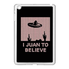 I Juan To Believe Ugly Holiday Christmas Black Background Apple Ipad Mini Case (white) by Onesevenart
