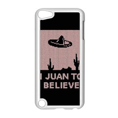 I Juan To Believe Ugly Holiday Christmas Black Background Apple Ipod Touch 5 Case (white) by Onesevenart