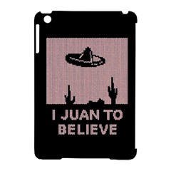 I Juan To Believe Ugly Holiday Christmas Black Background Apple Ipad Mini Hardshell Case (compatible With Smart Cover) by Onesevenart