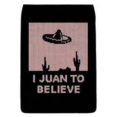 I Juan To Believe Ugly Holiday Christmas Black Background Flap Covers (s)  by Onesevenart