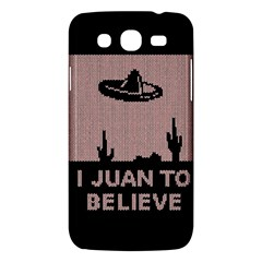 I Juan To Believe Ugly Holiday Christmas Black Background Samsung Galaxy Mega 5 8 I9152 Hardshell Case  by Onesevenart