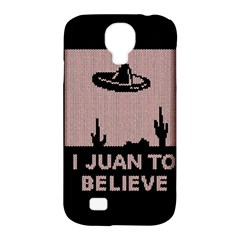 I Juan To Believe Ugly Holiday Christmas Black Background Samsung Galaxy S4 Classic Hardshell Case (pc+silicone) by Onesevenart