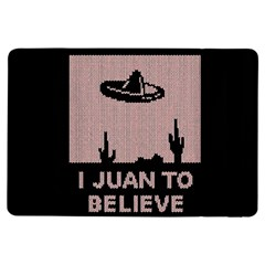 I Juan To Believe Ugly Holiday Christmas Black Background Ipad Air Flip by Onesevenart