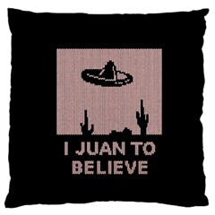 I Juan To Believe Ugly Holiday Christmas Black Background Standard Flano Cushion Case (one Side) by Onesevenart