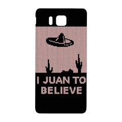 I Juan To Believe Ugly Holiday Christmas Black Background Samsung Galaxy Alpha Hardshell Back Case by Onesevenart