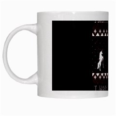 I Wasn t Good This Year, I Was Awesome! Ugly Holiday Christmas Black Background White Mugs by Onesevenart