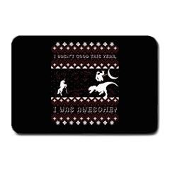 I Wasn t Good This Year, I Was Awesome! Ugly Holiday Christmas Black Background Plate Mats by Onesevenart