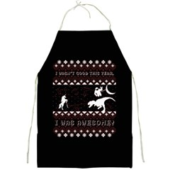 I Wasn t Good This Year, I Was Awesome! Ugly Holiday Christmas Black Background Full Print Aprons