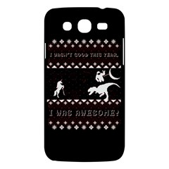 I Wasn t Good This Year, I Was Awesome! Ugly Holiday Christmas Black Background Samsung Galaxy Mega 5 8 I9152 Hardshell Case  by Onesevenart