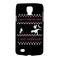 I Wasn t Good This Year, I Was Awesome! Ugly Holiday Christmas Black Background Galaxy S4 Active by Onesevenart