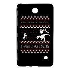 I Wasn t Good This Year, I Was Awesome! Ugly Holiday Christmas Black Background Samsung Galaxy Tab 4 (8 ) Hardshell Case  by Onesevenart