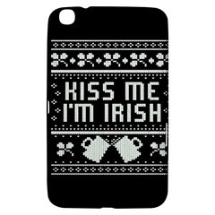 Kiss Me I m Irish Ugly Christmas Black Background Samsung Galaxy Tab 3 (8 ) T3100 Hardshell Case  by Onesevenart