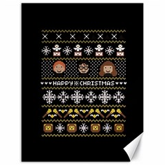 Merry Nerdmas! Ugly Christma Black Background Canvas 18  X 24   by Onesevenart