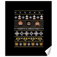 Merry Nerdmas! Ugly Christma Black Background Canvas 20  X 24   by Onesevenart