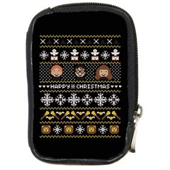 Merry Nerdmas! Ugly Christma Black Background Compact Camera Cases by Onesevenart
