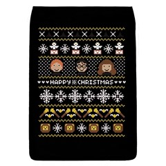 Merry Nerdmas! Ugly Christma Black Background Flap Covers (s)  by Onesevenart