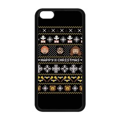 Merry Nerdmas! Ugly Christma Black Background Apple Iphone 5c Seamless Case (black) by Onesevenart