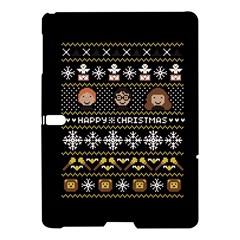 Merry Nerdmas! Ugly Christma Black Background Samsung Galaxy Tab S (10 5 ) Hardshell Case  by Onesevenart